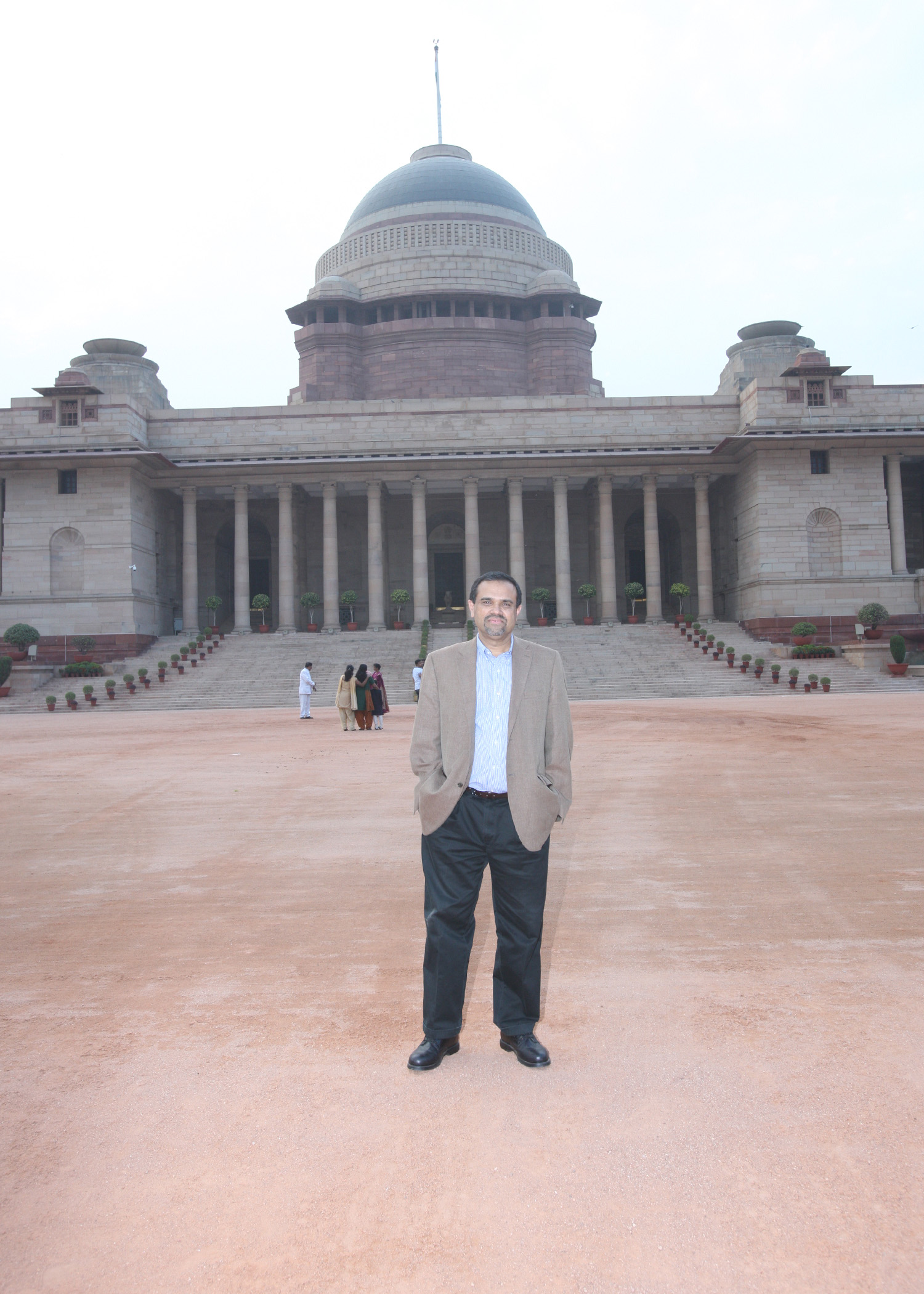 In Front of the Rashtrapati Bhavan
