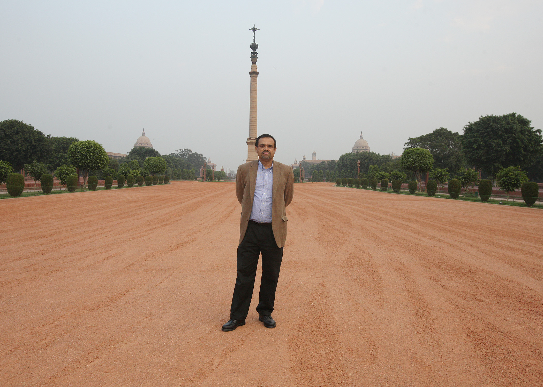 In Front of the Jaipur Column